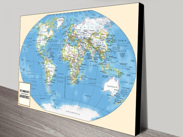 Personalised Adventurer World Travel Map