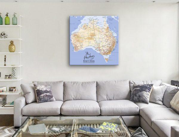 Australia Custom Framed Wall Art Cork Pinboard