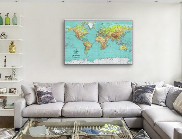 personalised map canvas artwork