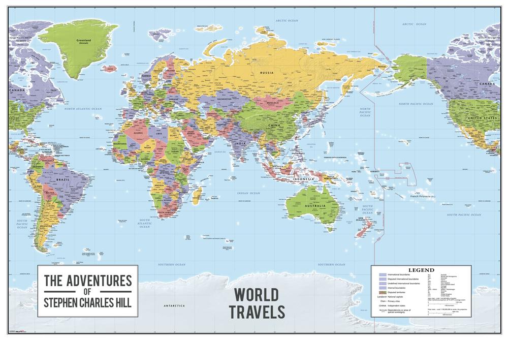 personalised map art