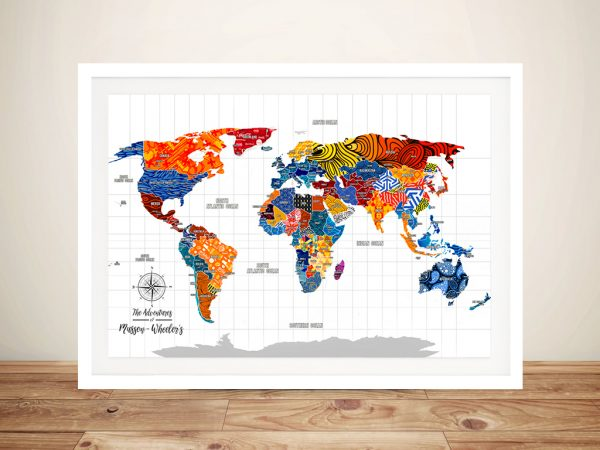 Personalised Pop Art Push Pin Travel Map