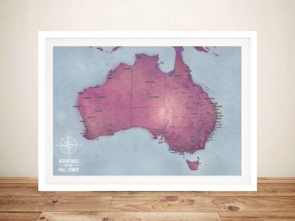 Personalised Australia Pinboard Map Art