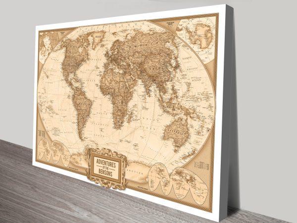 Globetrotter Adventure Custom Pinboard Cork Map