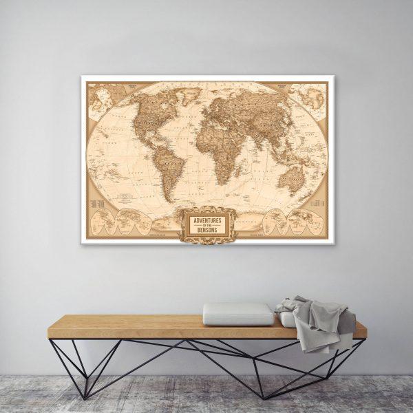 Personalised Adventure Map canvas print