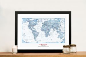 The Big Blue World Map