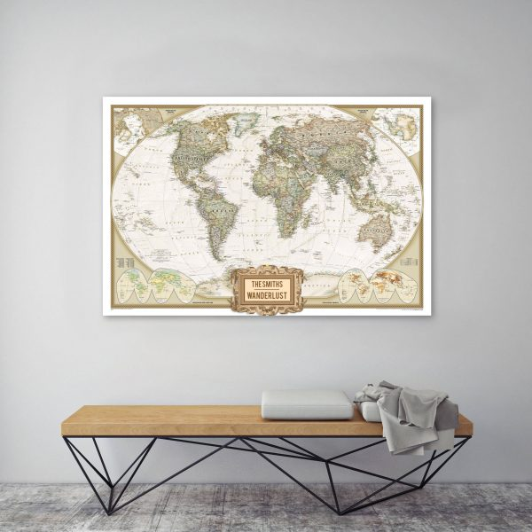 Personalized Adventure Map canvas Print