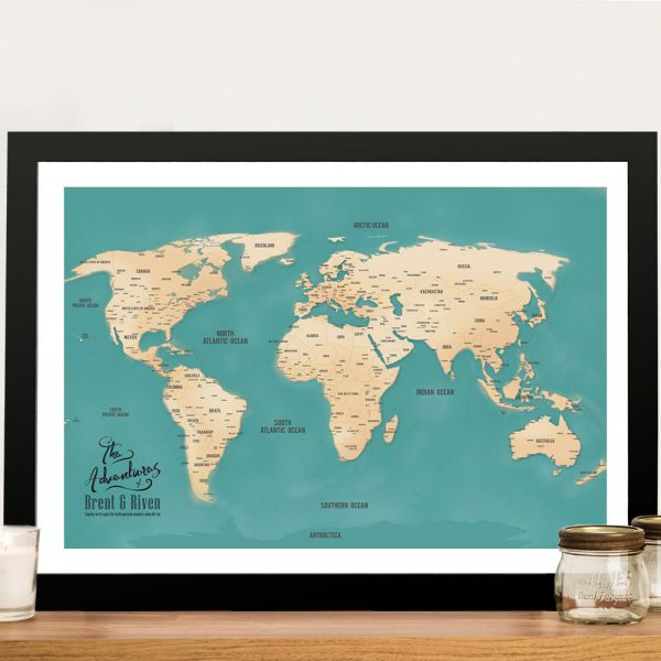 Push Pin Map Wall Picture Art America