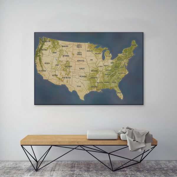 Personalized Push Pin Travel Map Art Gifts America
