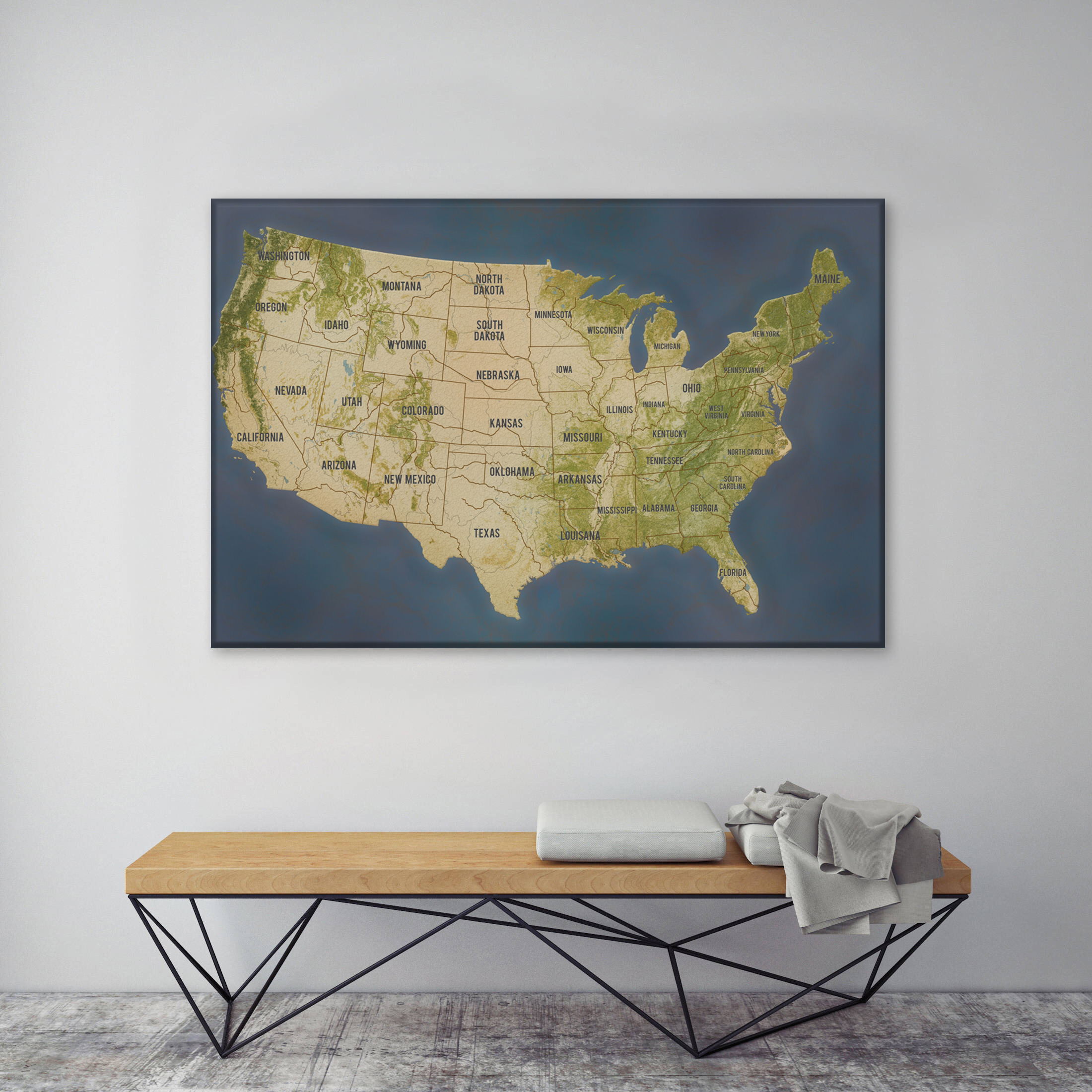 Personalized Usa Map.Personalized Push Pin Travel Map America In Charcoal Colour Scheme