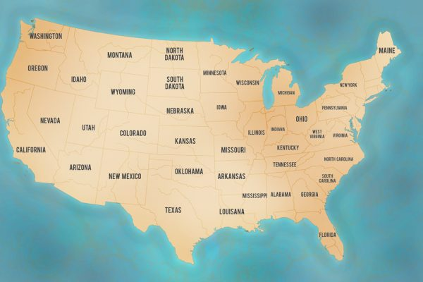 Personalised Push Pin Map USA