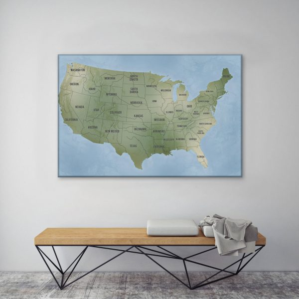 USA Map Art Travel Gift Idea