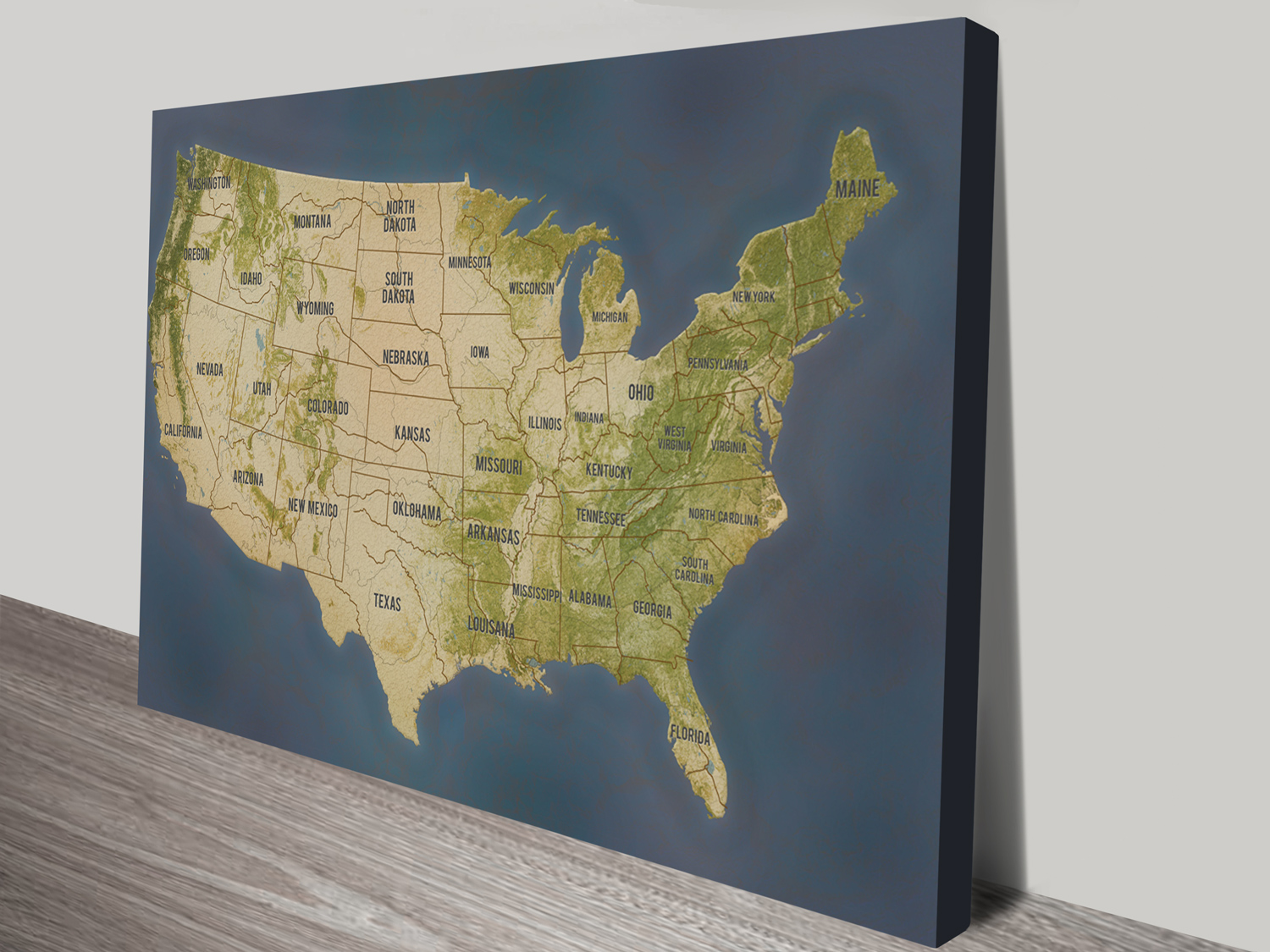 personalized push pin travel map america in charcoal colour scheme