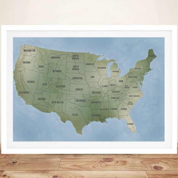 USA Custom Map Art Gift Ideas with Pins