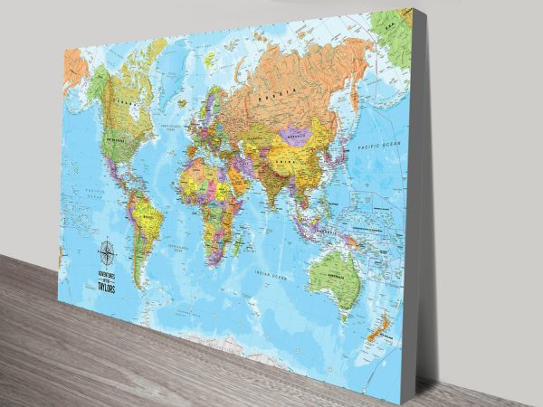 Personalised Push Pin World Travel Map Wall Art