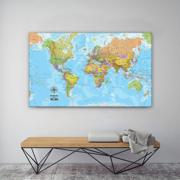 The Voyager Custom Map Wall Art