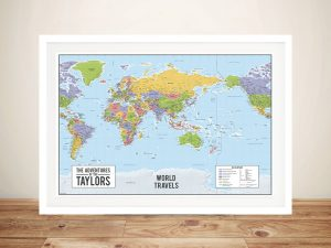 Australia-Centric World Map