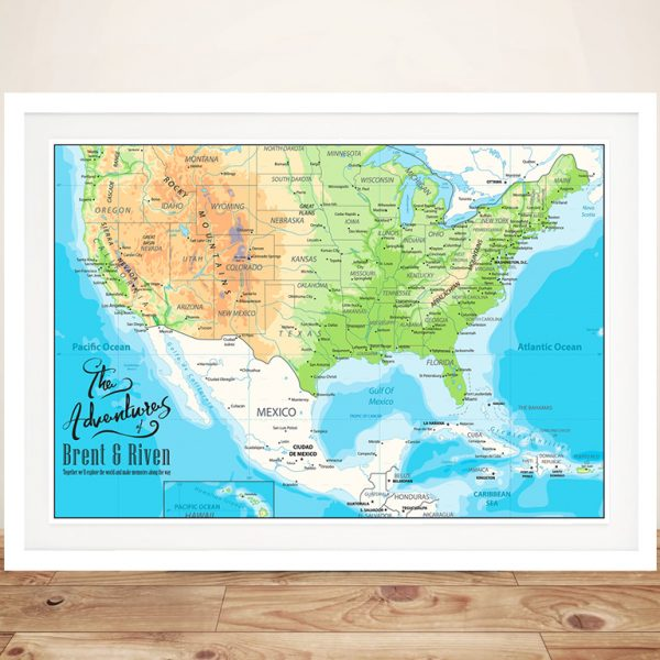 Custom American Adventures Framed Wall Art Print