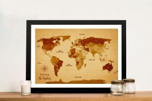 Vintage Shades World Map