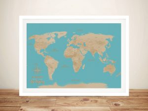 Turquoise Sands Push Pin Travel Map