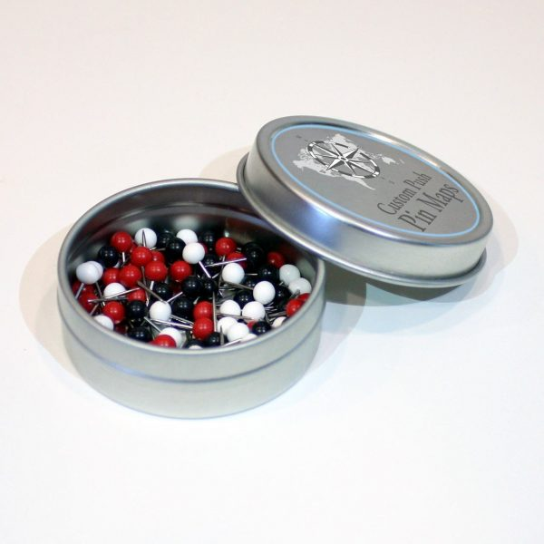 tin for map push pins