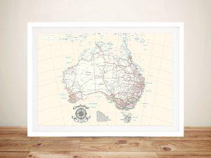 Australia Rectangle Cream Push Pin Map
