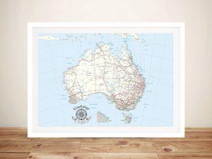 Australia Atlas Light Blue Pin Map