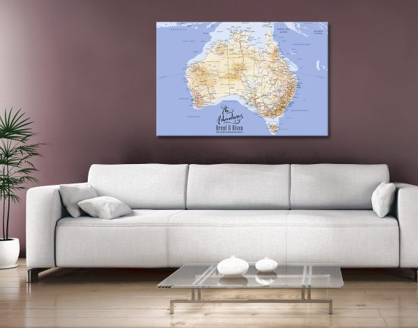Personalised Australia Push Pin Map Canvas Print