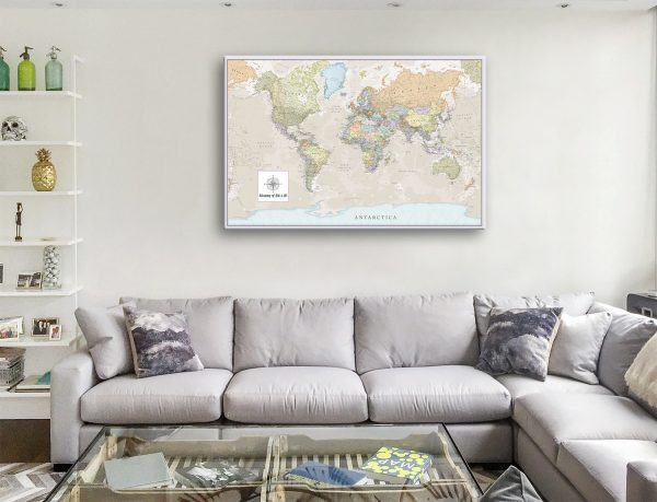 Personalized words Pathfinder World Map Wall Art