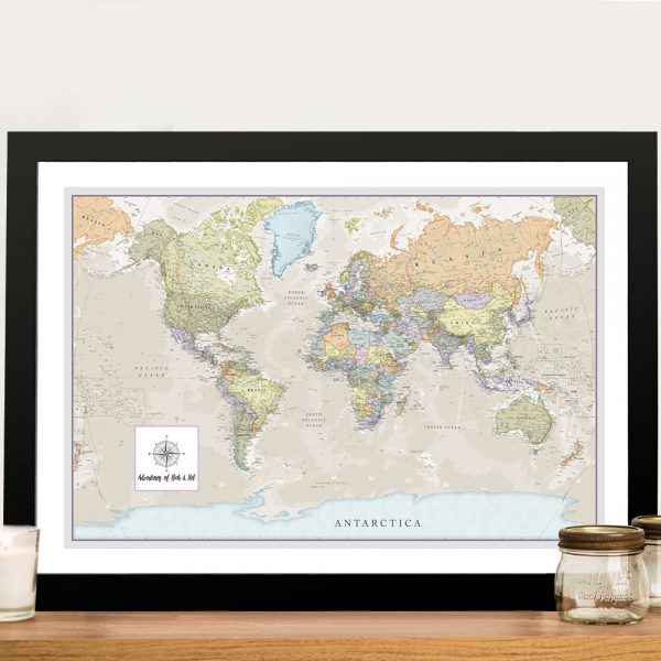 Personalised Pathfinder Push Pin Travel Map Art