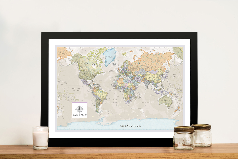 Pathfinder Push Pin Travel Map