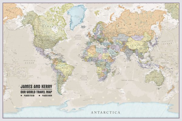 Personalised map art online