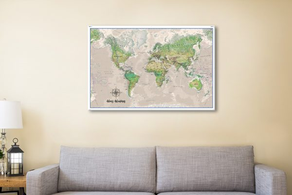 Personalised Adventures Poseidon Push Pin Travel Map