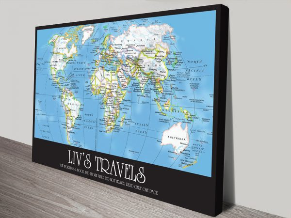 Buy Custom Wayfarer World Map with Push Pins