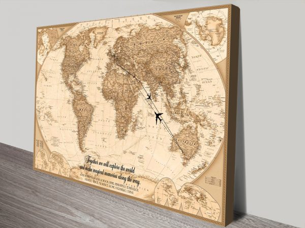Personalised Push Pin World Map with Words on Corkboard