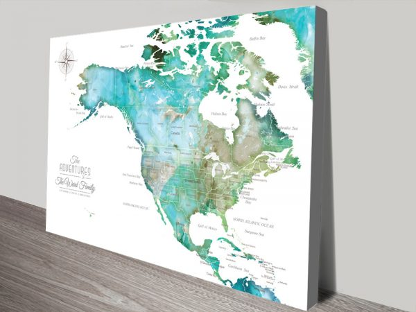 Personalized North America Push Pin Map Gift