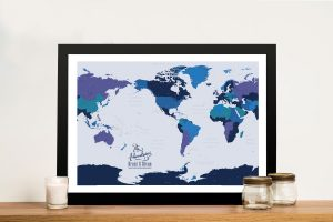 Pacific Central Blue Gold Push Pin Map