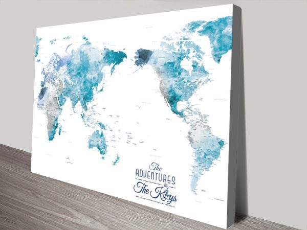 Buy Wonderful Watercolour World Maps Cheap Online