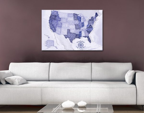 Bespoke Purple America Custom Pinboard Art