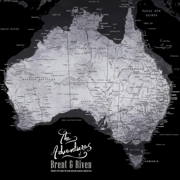 Buy a Ready to Hang Map of Australia Online