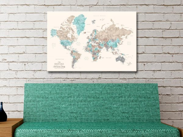 Buy Unique Gifts with Custom Watercolour Maps