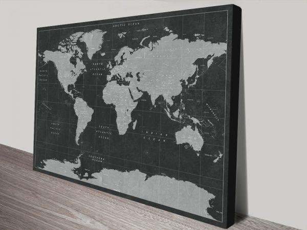 Buy Ready to Hang Custom Pushpin Maps Online