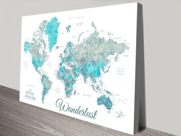 Buy Watercolour World Maps Gift Ideas Online