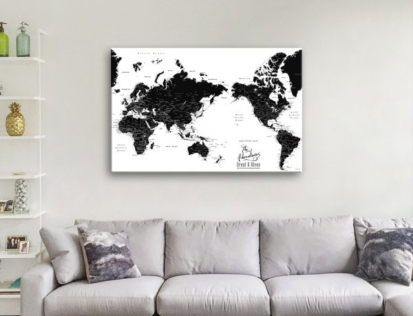 Buy Black & White Custom Map Wall Art Gift Ideas AU