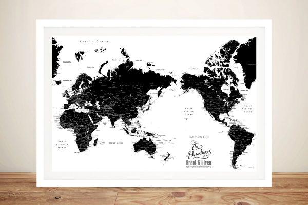 Buy Australia Centric Custom Map Art Online