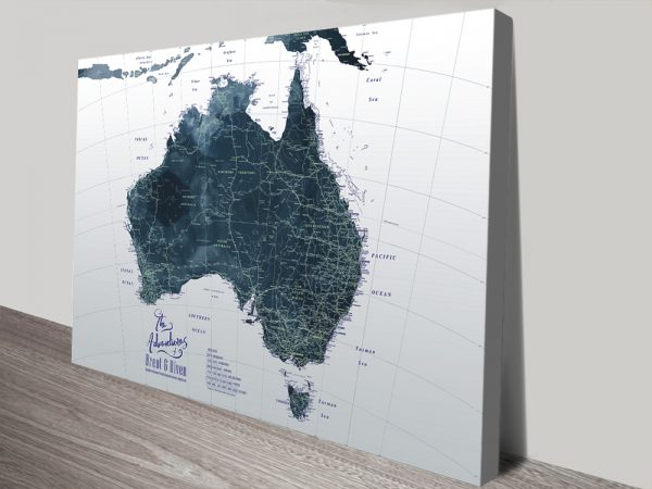 Quality Custom Map Art in a Range of Colours