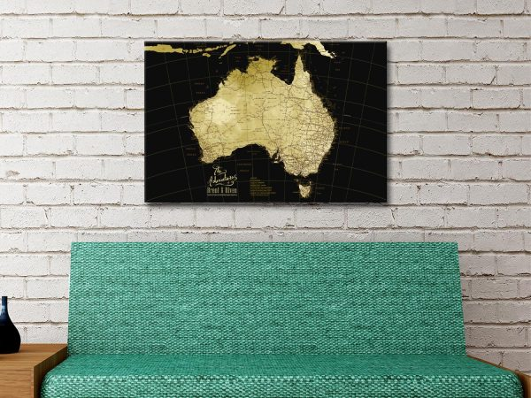 Custom Map Art in a Range of Colours for Sale