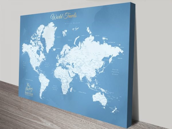 Stretched Canvas World Map Canvas Art